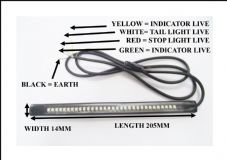 LED WATERPROOF STRIP STOP TAIL AND INDICATORS ALL IN ONE FLEXIBLE STRIP 32 LEDS